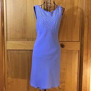 Lavender Sleeveless A-Line Midi Dress